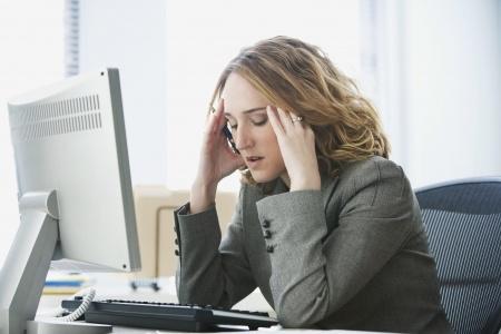 Im Büro Stress was hilft